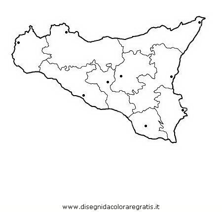 Disegno sicilia categoria nazioni da colorare for Stemma della repubblica italiana da colorare