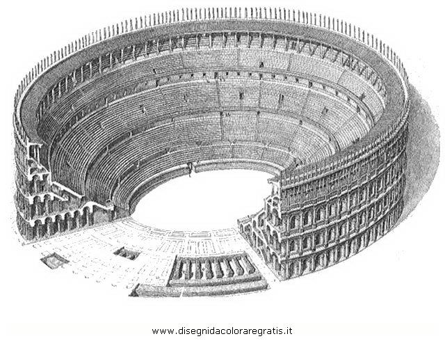 Disegno anfiteatro1 categoria nazioni da colorare for Colosseo da colorare