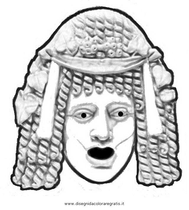 Disegno maschera romana 3 categoria nazioni da colorare - Lenzuola da colorare romane ...