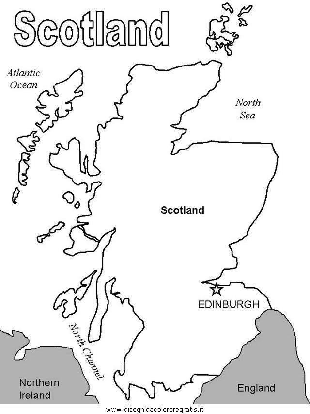 Gran Bretagna Cartina Da Colorare.Disegno Scozia 09 Categoria Nazioni Da Colorare