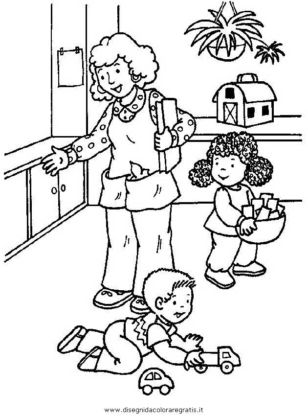 Disegno asilo 01 categoria persone da colorare - Disegni di coniglietti per bambini ...