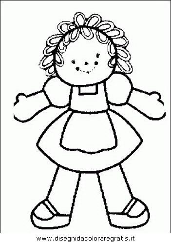 Disegno Bimbi Bambine 037 Categoria Persone Da Colorare