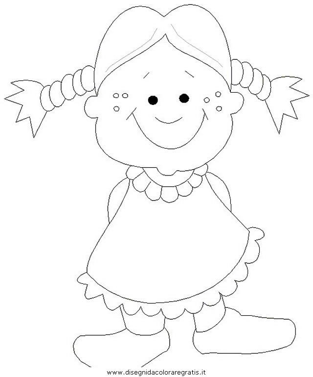 Disegno Bimbi Bambine 172 Categoria Persone Da Colorare