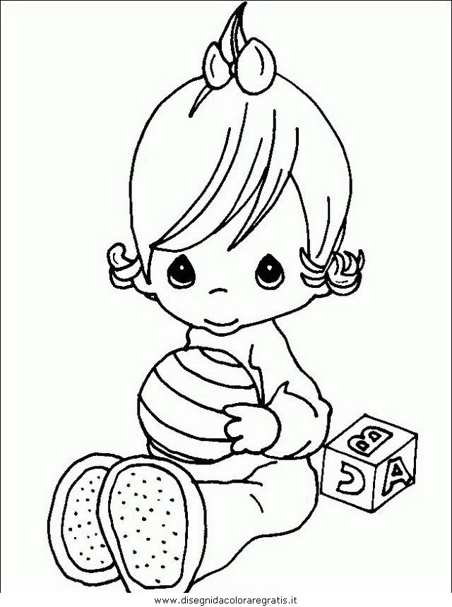Disegno Bimbi Bambine 210 Categoria Persone Da Colorare