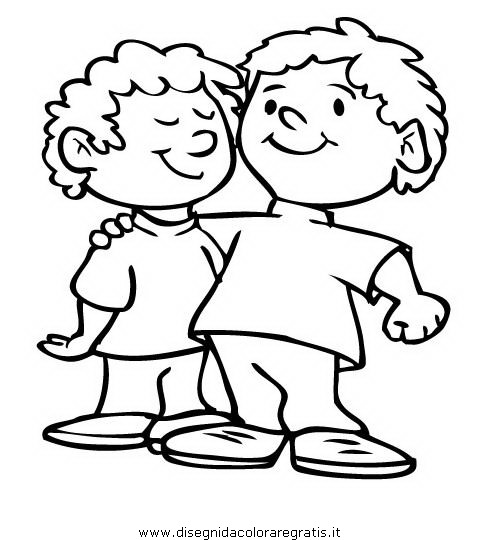 Disegno fratelli gemelli personaggio cartone animato da