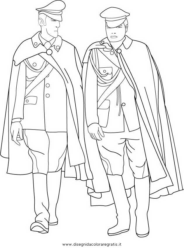Disegno carabinieri 16 categoria persone da colorare - Polizia ufficiale di polizia da colorare foglio da colorare ...