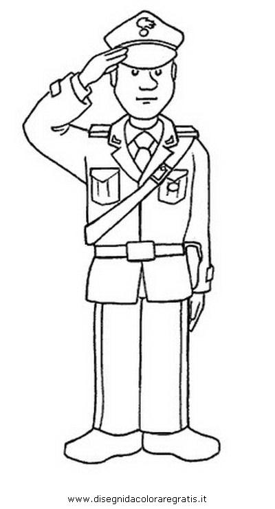 Disegno carabinieri 20 categoria persone da colorare - Polizia ufficiale di polizia da colorare foglio da colorare ...