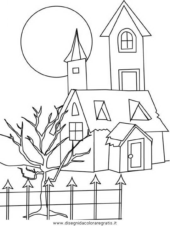 Disegno casa fantasmi 1 categoria persone da colorare for Disegni di scantinati di sciopero
