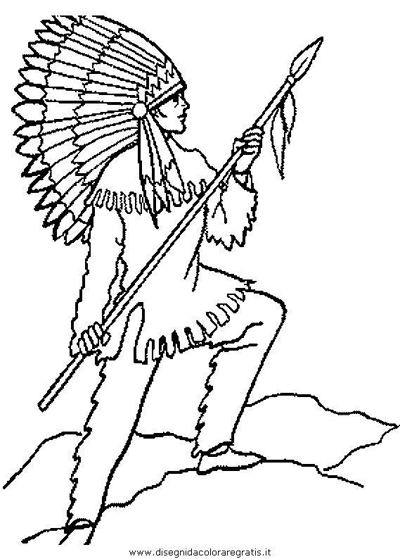 Disegno Indiani 02 Categoria Persone Da Colorare