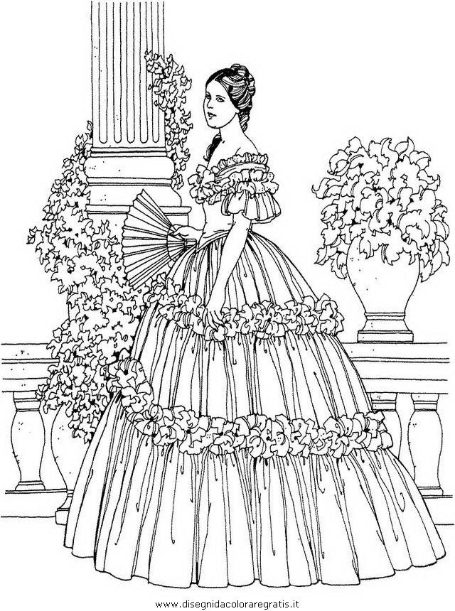 Disegno Donna Antica 05 Categoria Persone Da Colorare