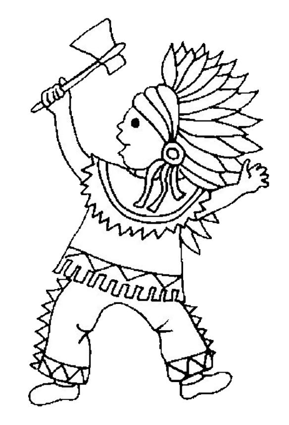 Disegno Indiano 20 Categoria Persone Da Colorare