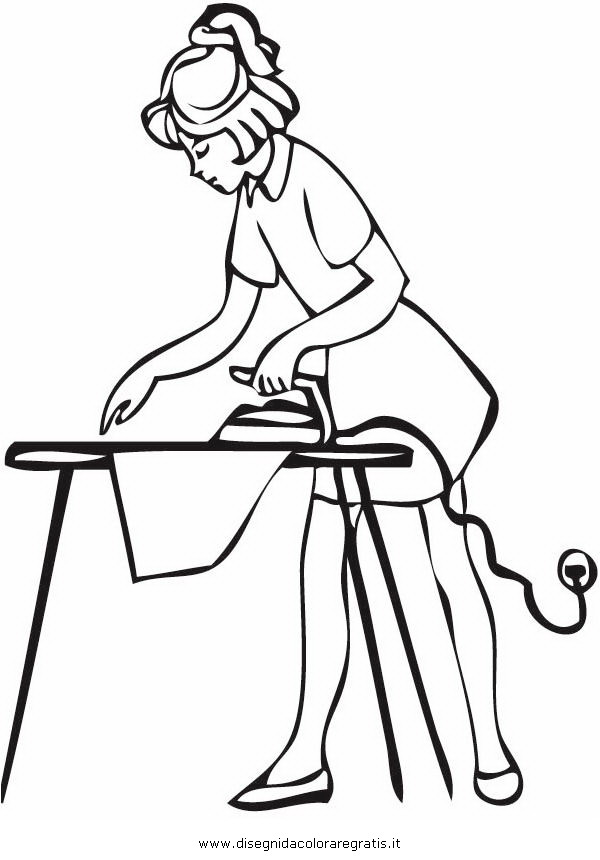 Disegno pulizie 13 categoria persone da colorare for Casa immagini da colorare
