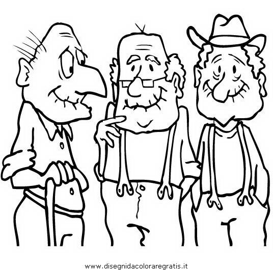Disegno anziani categoria persone da colorare for Cruciverba per anziani da stampare