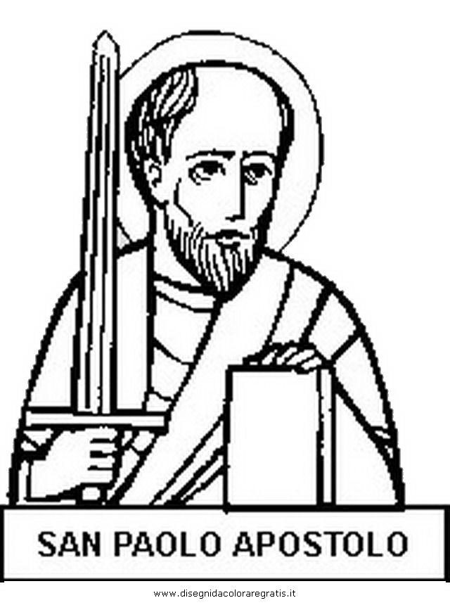 Disegno San Paolo Apostolo Categoria Religione Da Colorare