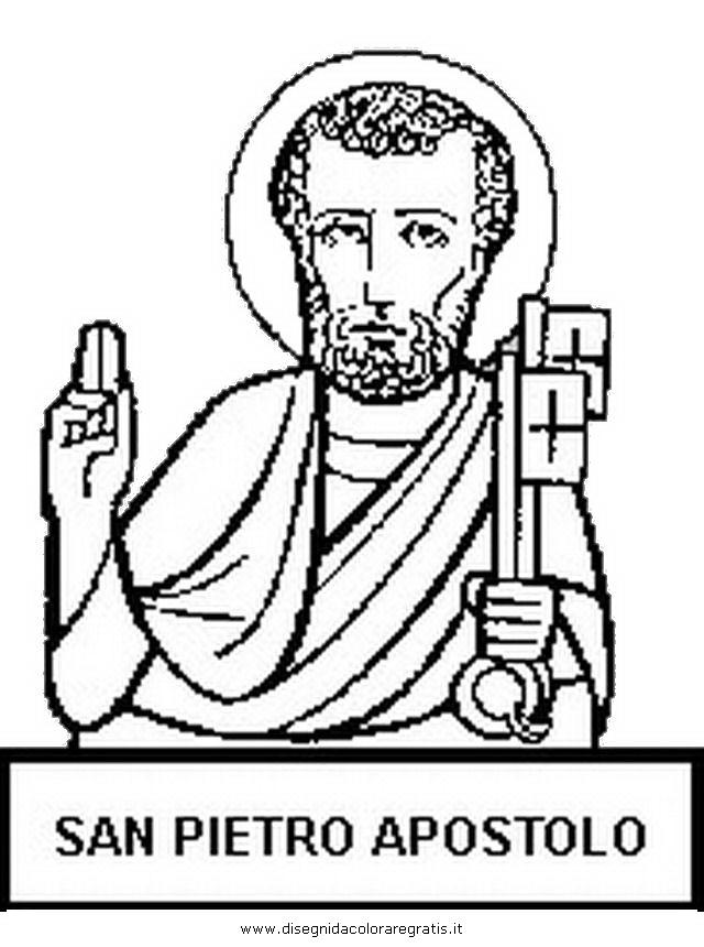 Disegno San Pietro Apostolo Categoria Religione Da Colorare