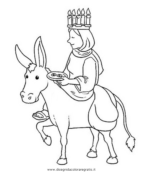 st lucias day coloring pages - photo#22