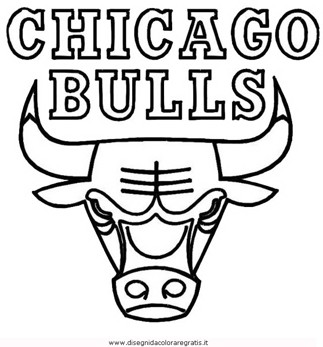 Disegno basket chicago bulls categoria sport da colorare for Chicago bulls coloring pages