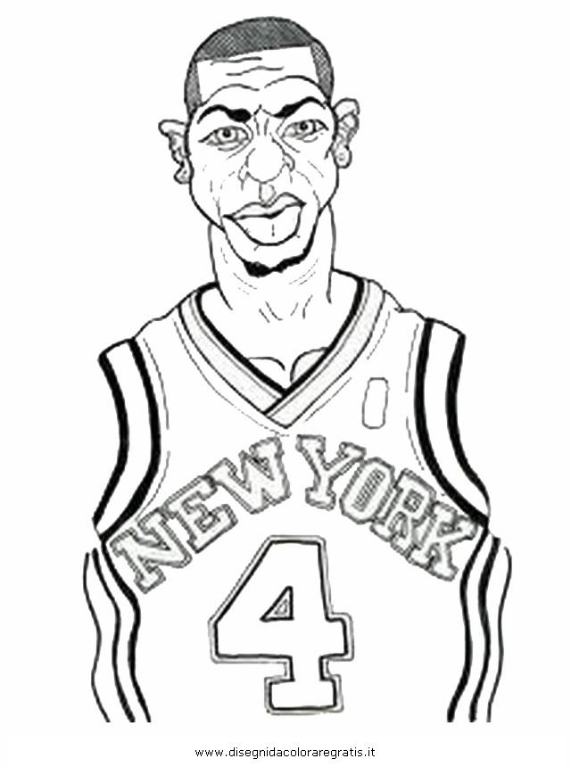 Disegno Basket Nba 08 Categoria Sport Da Colorare