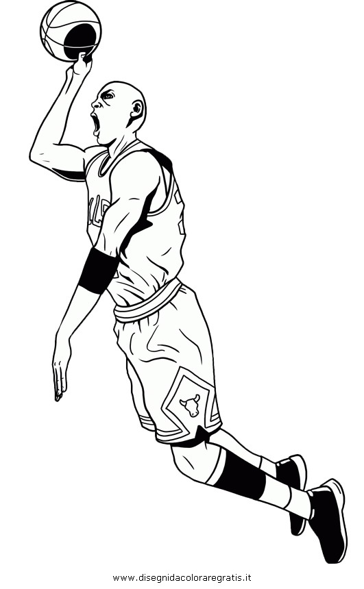 michael jordan coloring pages free - photo #9