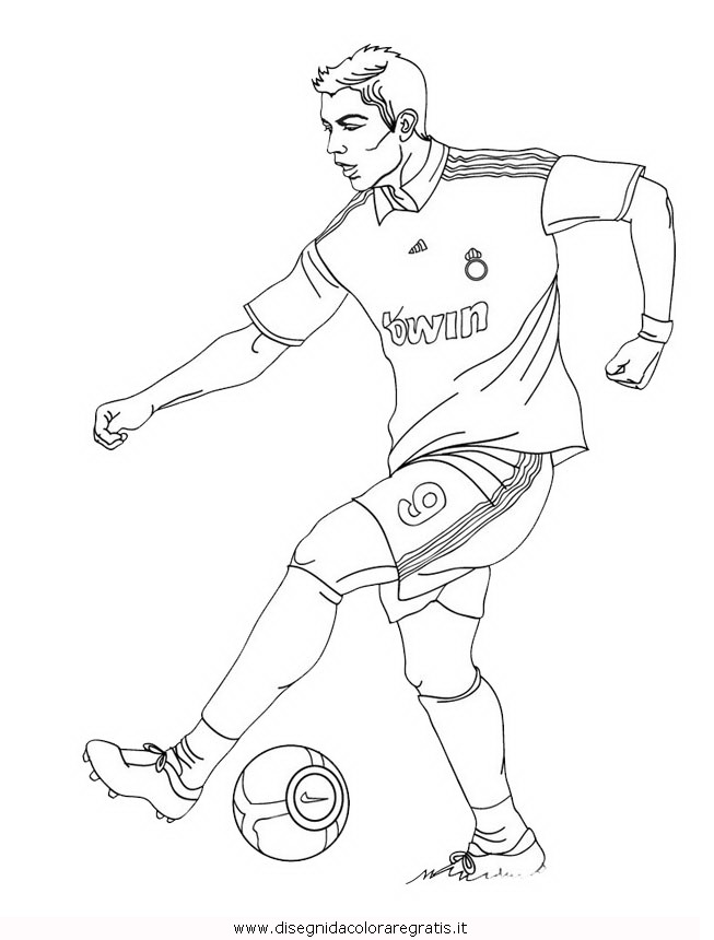 Disegno Cristiano Ronaldo 1 Categoria Sport Da Colorare