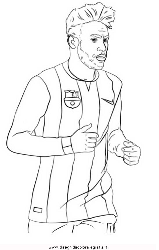 Disegno neymar categoria sport da colorare for Disegni sport da colorare