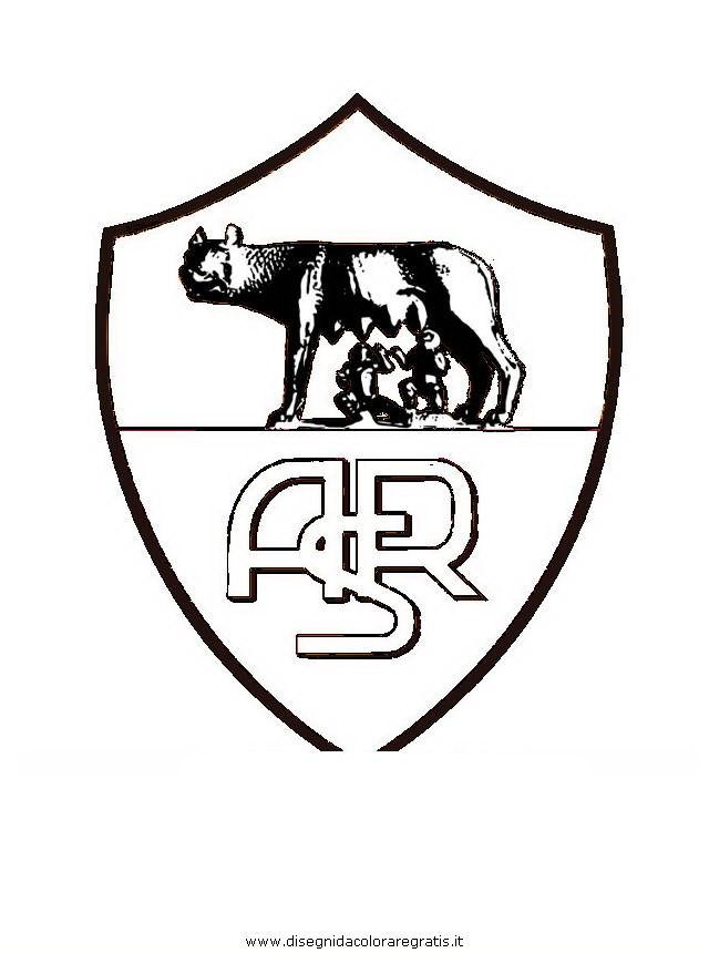 disegno scudetto roma categoria sport da colorare