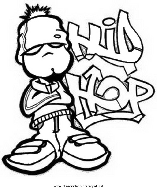 Disegno Hip Hop 3 Categoria Sport Da Colorare