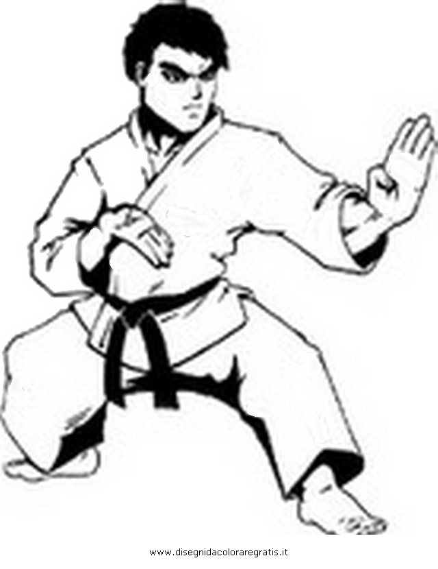 disegni di sport da colorare disegno karate 12 categoria sport da colorare