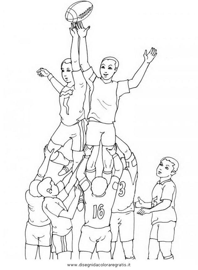Disegni Da Colorare E Stampare Rugby.Disegno Rugby 12 Categoria Sport Da Colorare