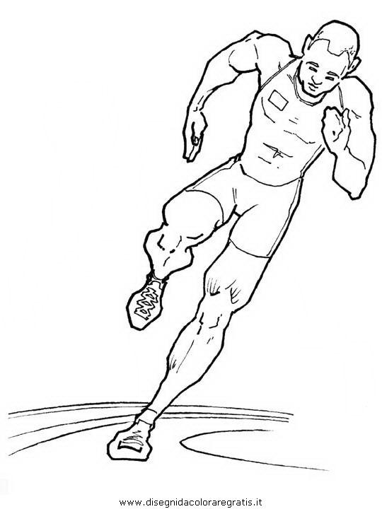 Disegno Atletica Velocita 100 Categoria Sport Da Colorare