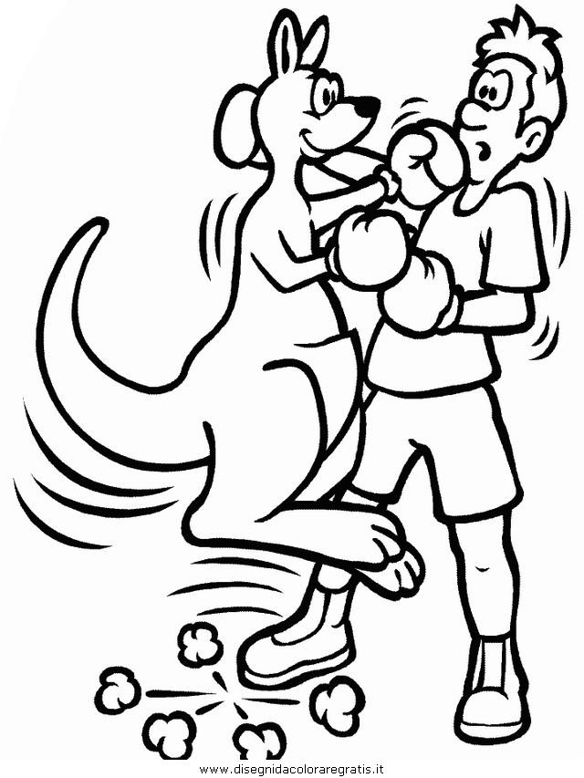 Disegno Boxing Categoria Sport Da Colorare