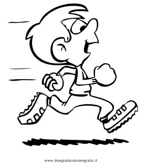 Disegno Correre Categoria Sport Da Colorare