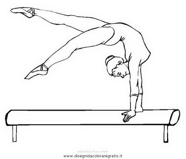 Disegno ginnasta ginnastica 15 categoria sport da colorare for Disegni sport da colorare