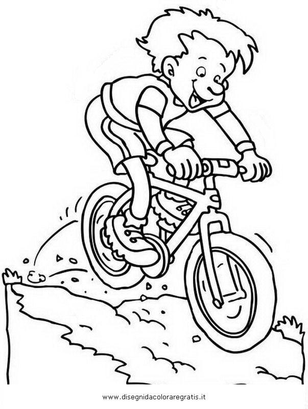 disegno mountainbikemtb categoria sport da colorare