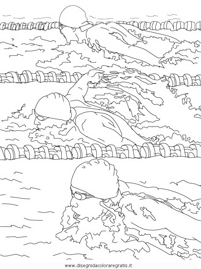 Disegno nuoto delfino categoria sport da colorare for Delfino disegno da colorare