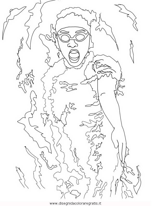 Disegno nuoto dorso categoria sport da colorare - Immagini di aquiloni per colorare ...