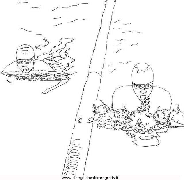 Disegno nuoto rana categoria sport da colorare for Disegni sport da colorare