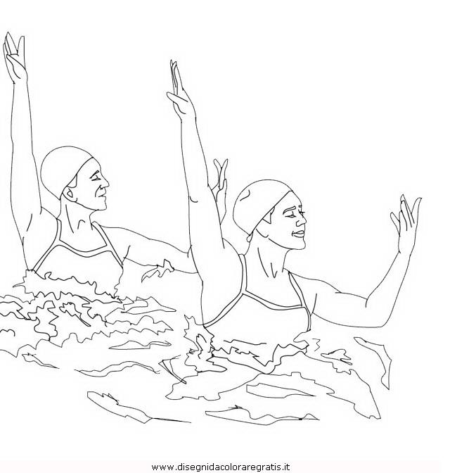 Disegno nuoto sincronizzato 1 categoria sport da colorare - Immagini sportive da stampare ...