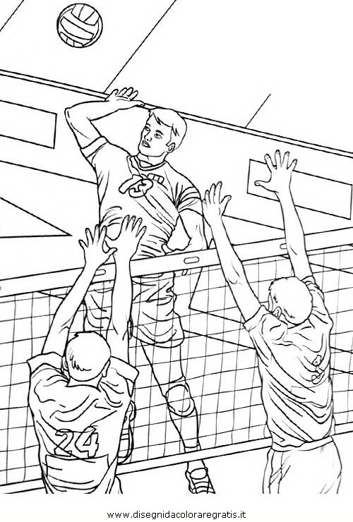 Disegno pallavolo 102 categoria sport da colorare - Campi da pallavolo gratis stampabili ...