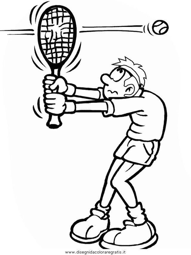 Disegno tennis categoria sport da colorare for Disegni sport da colorare