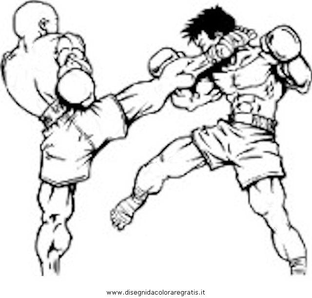 Disegno Thaiboxe Categoria Sport Da Colorare