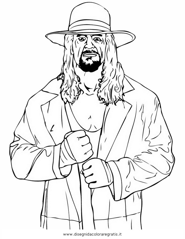 Wwe Coloring Pages Of Undertaker Undertaker Coloring Pages