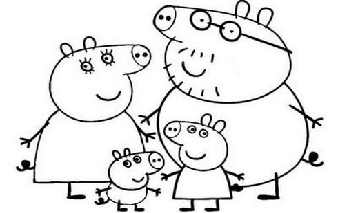 Disegni da colorare gratis per bambini for Maschere di peppa pig da colorare