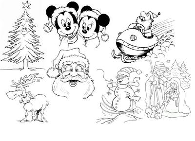 Disegni da colorare gratis per bambini for Cose natalizie